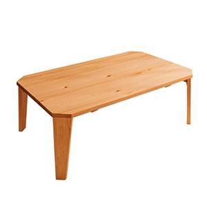 パイン材の折りたたみリビングテーブル