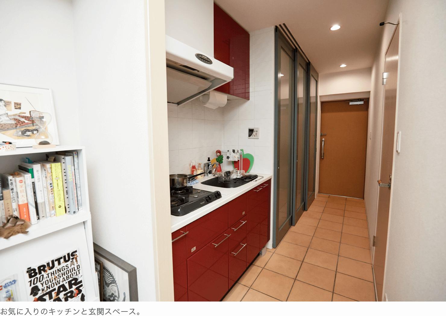お気に入りのキッチンと玄関スペース。