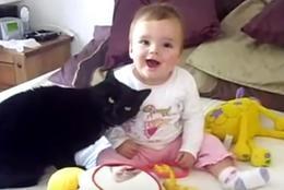 15連発!!「猫と赤ちゃんは通じ合えてる説」を裏付けるような、幸せムービー