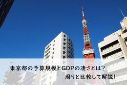 東京都の予算規模とGDPの凄さとは?周りと比較して解説!