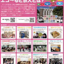Think globally, Act locally, Fell in the Campus! エコ~るど京大