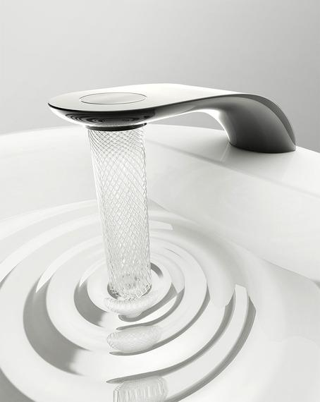 エレガントな節水法?!  アート並みに美しい水の流れ+節水もできる蛇口