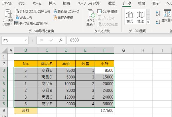 Excelでデータや文字などの並び替えができない! 対処法は?