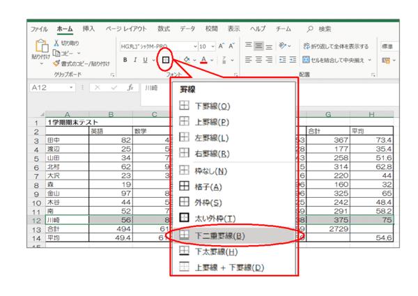 【Excel】表の大きさはどう変える? サイズの変更方法と罫線の活用法