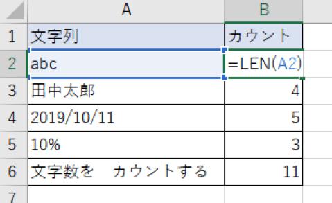 Excelの文字カウントに役立つ! LEN 関数の使い方の基本を解説